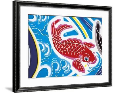 Carp Swimming Against Current--Framed Giclee Print
