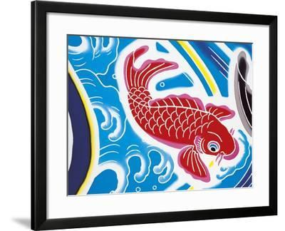 Carp Swimming Against Current--Framed Giclee Print