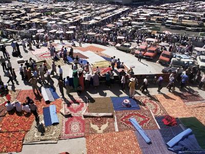 Carpet Area, Main Market, Tashkent, Uzbekistan, Central Asia-Upperhall-Photographic Print