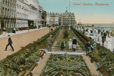 Carpet Gardens, Eastbourne, England. Postcard Sent in 1913-French Photographer-Giclee Print