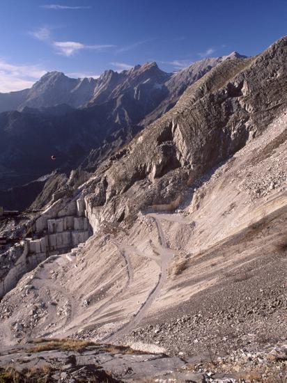 Carrara Marble Quarry Near Antona in Apuane Alps, Tuscany, Italy, Europe  Photographic Print by Patrick Dieudonne | Art com