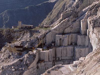 Carrara Marble Quarry Near Antona in Apuane Alps, Tuscany, Italy, Europe-Patrick Dieudonne-Photographic Print