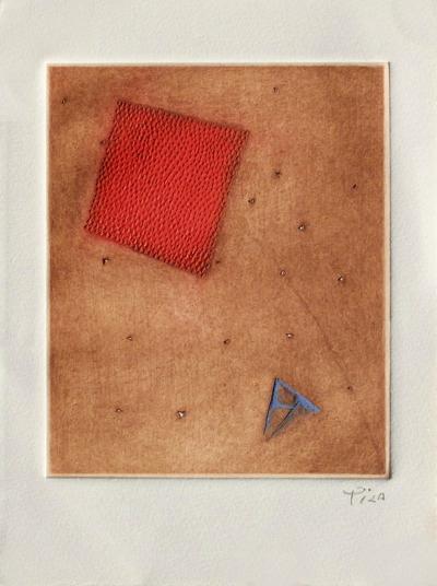 Carré rouge et triangle bleu-Arthur Luiz Piza-Limited Edition