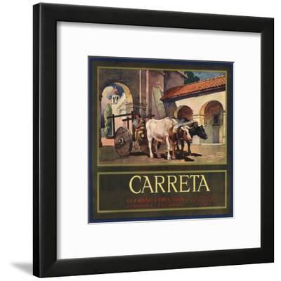 Carreta Brand - Claremont, California - Citrus Crate Label-Lantern Press-Framed Art Print