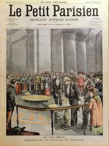 Experiment with Foucault's Pendulum at the Pantheon in Paris by Carrey