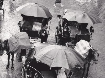 Carriage on a Rainy Day, Florence--Photographic Print