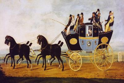 Carriage on the Birmingham-London Line, Painting, United Kingdom, 19th Century--Giclee Print