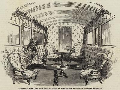 Carriage Prepared for Her Majesty by the Great Northern Railway Company--Giclee Print
