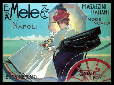 Carriage Ride by the Shore-Aleardo Villa-Art Print