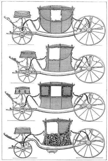 Carriages, 1885--Giclee Print