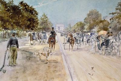 Carriages on the Champs Elysees-Georges Stein-Giclee Print