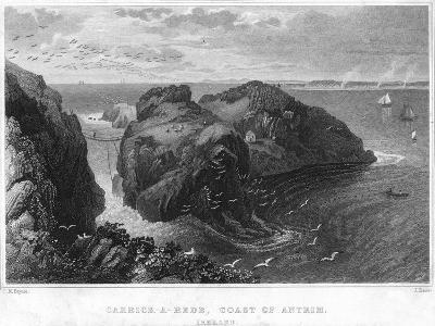 Carrick-A-Rede, Coast of Antrim, Ireland, 19th Century--Giclee Print