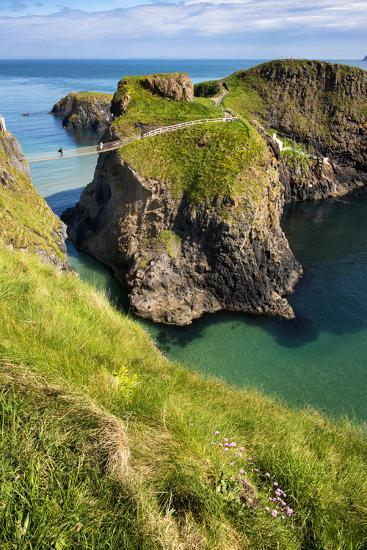 Carrick-A-Rede Rope Bridge in Northern Ireland-Chris Hill-Photographic Print