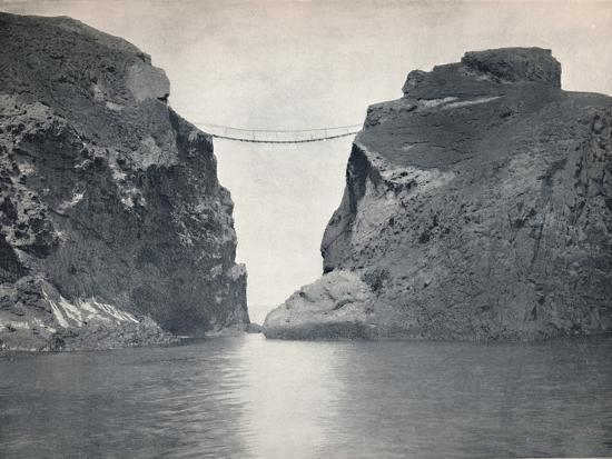 'Carrick-A-Rede - The Rope Bridge Across the Chasm', 1895-Unknown-Photographic Print