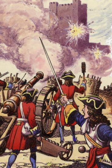 Carrickfergus Castle under Siege-Pat Nicolle-Giclee Print