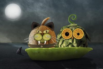 Owl and Cat
