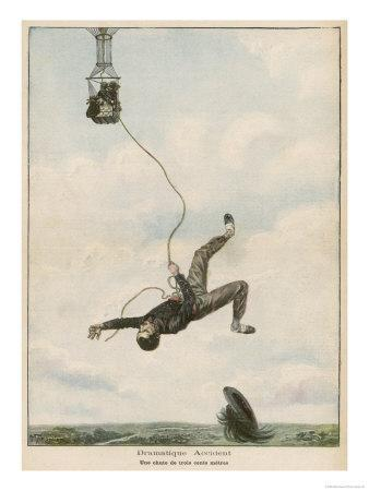 Carried Aloft by Balloon--Giclee Print