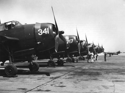 Carrier-Borne Planes to Be Transferred to the French with the Carrier 'Langley, 1951--Giclee Print