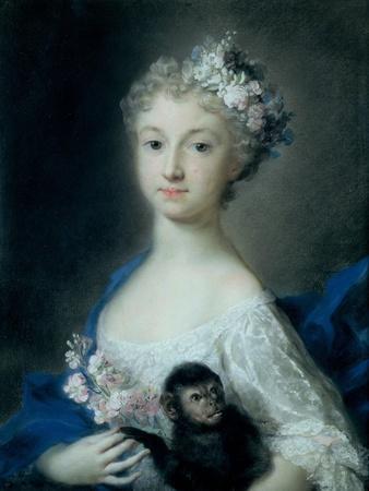 Girl Holding a Monkey