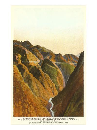 Carrizo Gorge, San Diego County, California--Art Print
