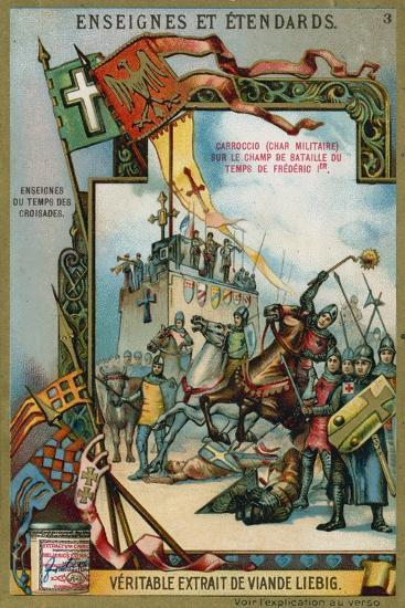 Carroccio on a Battlefield of the Time of Frederick I Barbarossa, 12th Century--Giclee Print