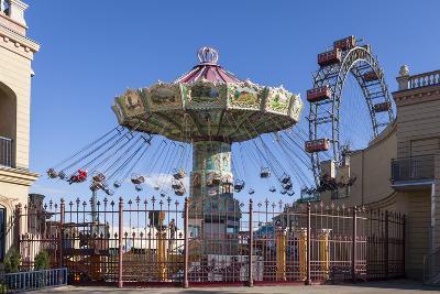 Carrousel and Big Wheel, Prater, 2nd Area, Vienna, Austria, Europe-Gerhard Wild-Photographic Print