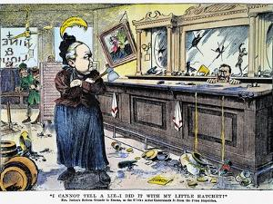Carry Nation Cartoon, 1901