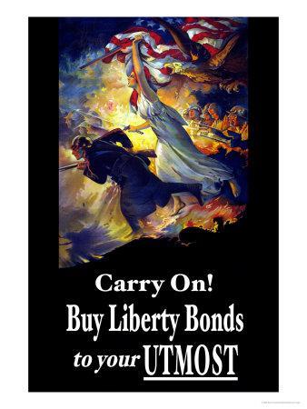 Carry On! Buy Liberty Bonds to Your Utmost-Edwin Howland Blashfield-Art Print