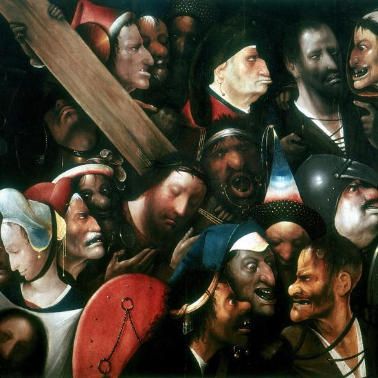 Carrying the Cross, C1480-1516-Hieronymus Bosch-Giclee Print