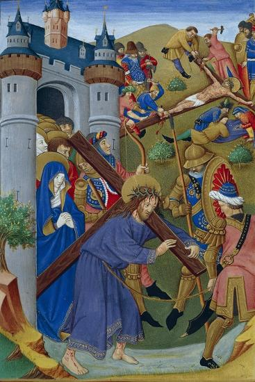 Carrying the Cross, Miniature from Book of Prayers, Manuscript--Giclee Print