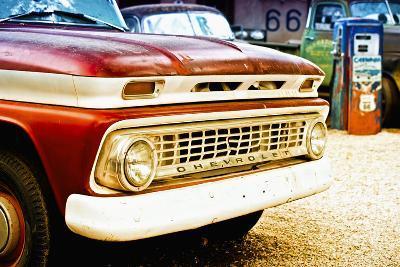 Cars - Chevrolet - Route 66 - Gas Station - Arizona - United States-Philippe Hugonnard-Photographic Print