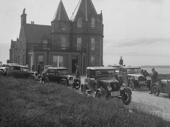Cars competing in the B&HMC Brighton Motor Rally, John O'Groats, Scotland, 1930-Bill Brunell-Photographic Print