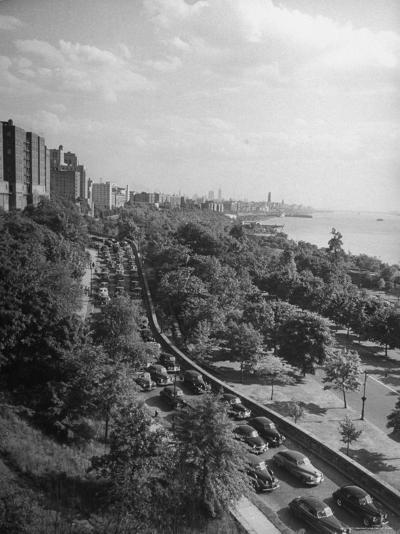 Cars Driving Off the George Washington Bridge in the Afternoon During Memorial Day Traffic-Cornell Capa-Photographic Print