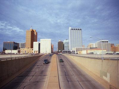 Cars on a Highway, Midland, Midland County, Texas, USA--Photographic Print