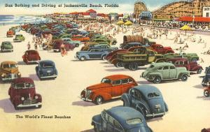 Cars on Beach, Jacksonville, Florida