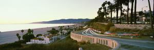 Cars on the road, Highway 101, Santa Monica, Los Angeles County, California, USA