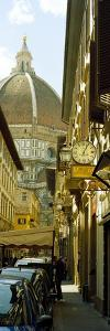 Cars Parked in a Street with a Cathedral in the Background, Via Dei Servi, Duomo Santa Maria Del...