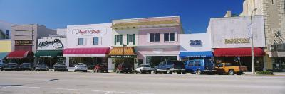Cars Parked in Front of Stores, Beach Street, Daytona Beach, Florida, USA--Photographic Print