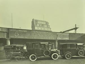 Cars Parked Outside London Bridge Station, 1931