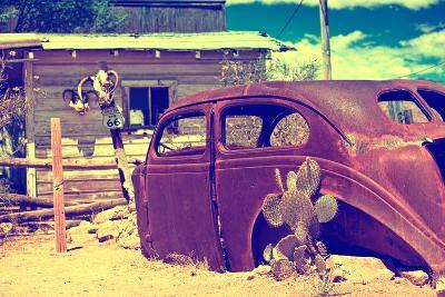 Cars - Route 66 - Gas Station - Arizona - United States-Philippe Hugonnard-Photographic Print