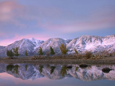 Carson Range Reflected in Carson River at Sunset, Nevada, Usa-Tim Fitzharris-Photographic Print
