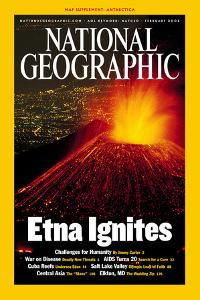 Cover of the February, 2002 National Geographic Magazine by Carsten Peter