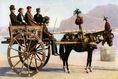 Cart, Palermo, Sicily, C1923--Giclee Print