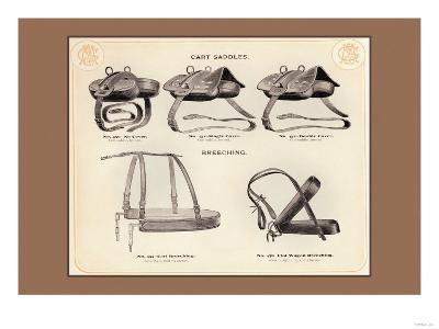 Cart Saddles and Breeching--Art Print