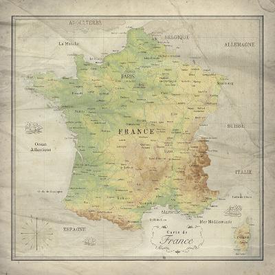 Carte de France-The Vintage Collection-Giclee Print