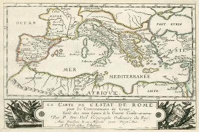 Carte de l'Empire romain de Jules Cesar-Julius Caesar-Giclee Print