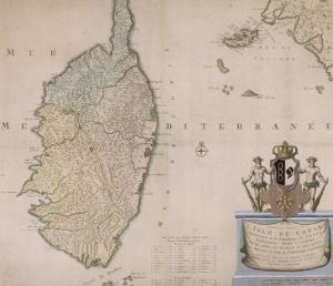 Carte de la Corse.