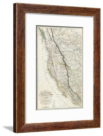Carte de la Cote de l'Amerique, c.1844-Eugene Duflot De Mofras-Framed Art Print