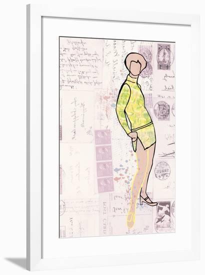 Carte de la Mode IV-Clara Wells-Framed Giclee Print