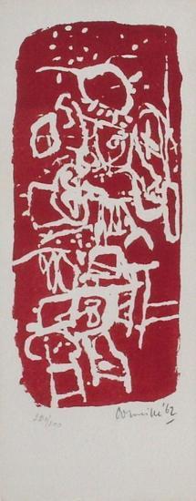 Carte de voeux 1963-Guillaume Corneille-Limited Edition